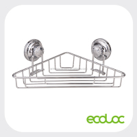 ECOLOC Suction Cup Bathroom Corner Rack, Corner Bathroom Shelf