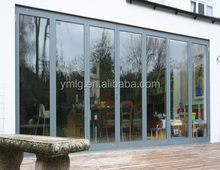 China Wholesale Shatterproof Aluminum Alloy Glass Folding Door With <strong>Hardware</strong>