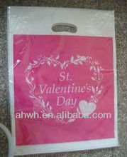 China custom made die cut plastic bags for shopping