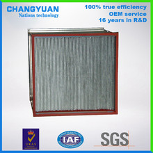 HEPA filter factory make high-temperature resistance air filter for HVAC