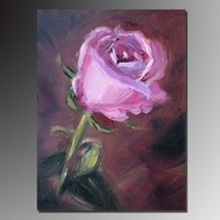 pink rose flower oil painting,High-quality hand-painted artistic impression flower painting home wall decor Oil on canvas