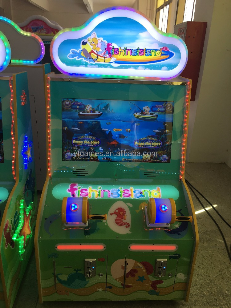 HOT!!! kids fishing games video game machine lottery redemption machine