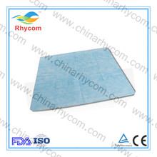 waterproof hospital non woven blue 50gsm pp bed sheet