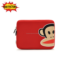 "fashion zipper 9.7"" neoprene tablet sleeve cover for ladies and children"