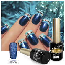YSHINE Bling Color Glitter UV Gel Nail Polish Wholesale Professional Gold Sand Nail UV Gel