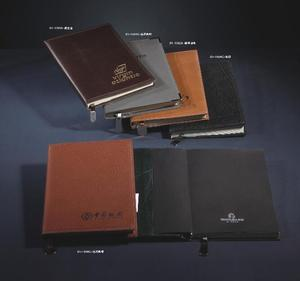 Notebook imitation leather cover , PU metal buckle business notepad/ business gifts notebook