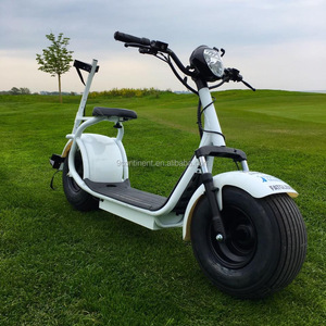new design front suspension golf cart mobility scooter with plastic foot stand