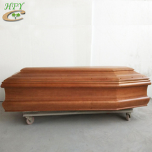 Italian style cheap wooden coffin with carvings for sale