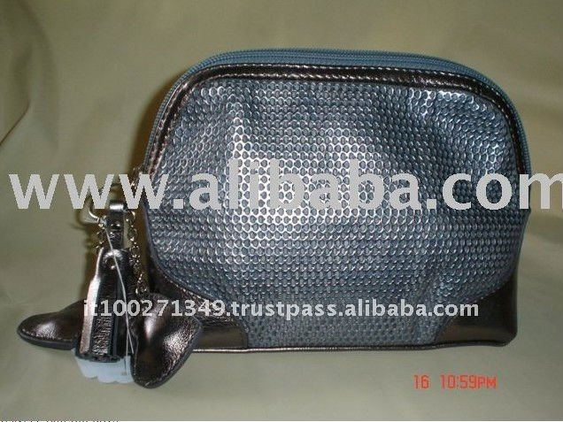 5103 Silver Cheap Patent Pu Cosmetic Bag