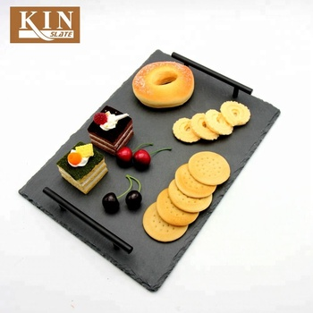 Cheap and safty rectangle slate tray for cake