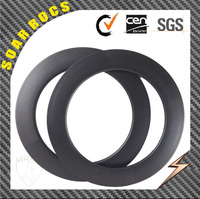 Soarrocs carbon road bicyle wheels rims 88mm clincher tubeless rims 23mm width