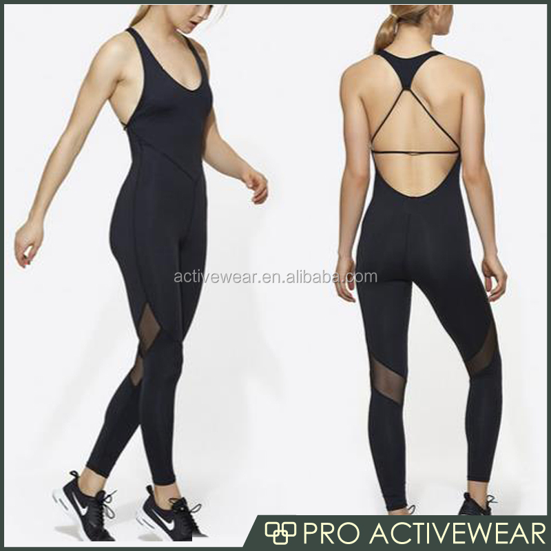 (OEM/ODM Factory)one pice gym yoga women fitness wear bodysuit sports jumpsuit