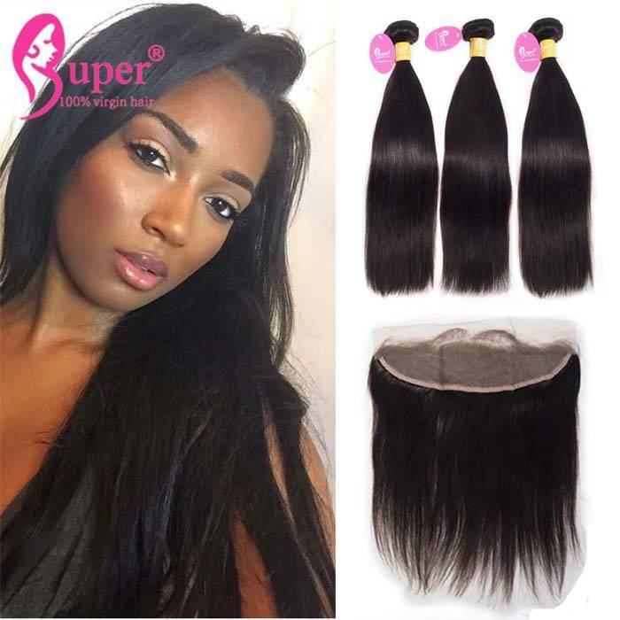 Low Price Steam Processed Virgin Cuticle Aligned One Donor Raw Hair Bundles With Frontal 13x4
