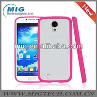 TPU bumper &matte back cover for samsung galaxy s4 i9500