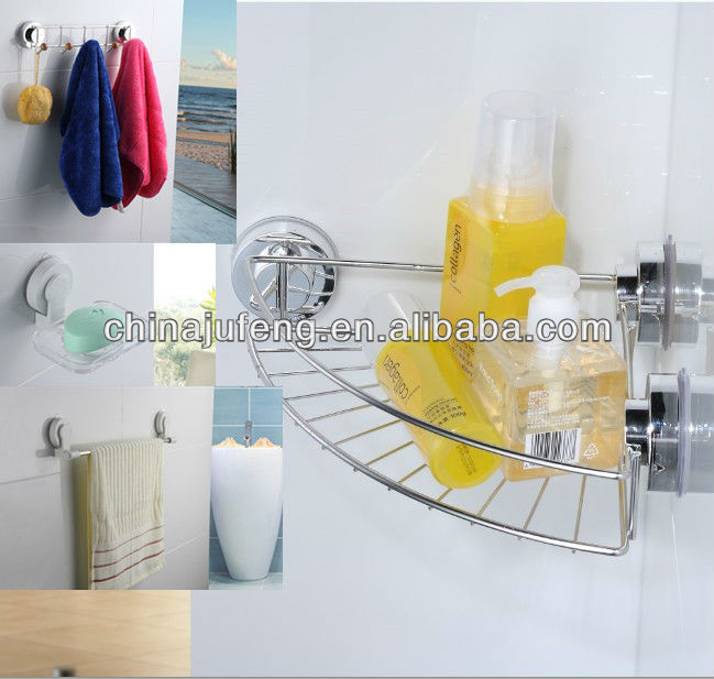Suction cup bathroom accessories set