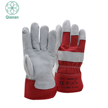 Brand Name Leather Working Safety Protection Gloves With Safety Cuff