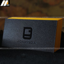 Alibaba China supplier letterpress printing black soft suede cardstock business card printing