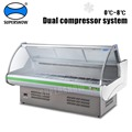 Portable Meat Commercial Refrigerator Showcase With Back Loading Glass Door display