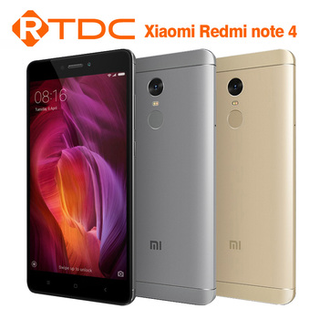 "2016 New Arrival Xiaomi Redmi Note 4 64GB ROM 3GB RAM MTK Helix 20 MIUI8 OS 4100mAh 5.5"" Metal Body Phone"