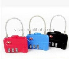 Lovely cute 3-dial combination luggage tsa lock travel bag accessories lock