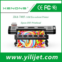 XENONS new high speed water based ink eco solvent printer with double EPS DX5 printhead