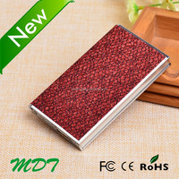Hot sale in world most thin 4000mah battery operated shimmering wallet power bank