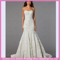 Professional supplier lace white velvet wedding dresses for wholesales