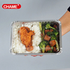 2 Compartments Disposable Rectangular Aluminum Foil Food Tray