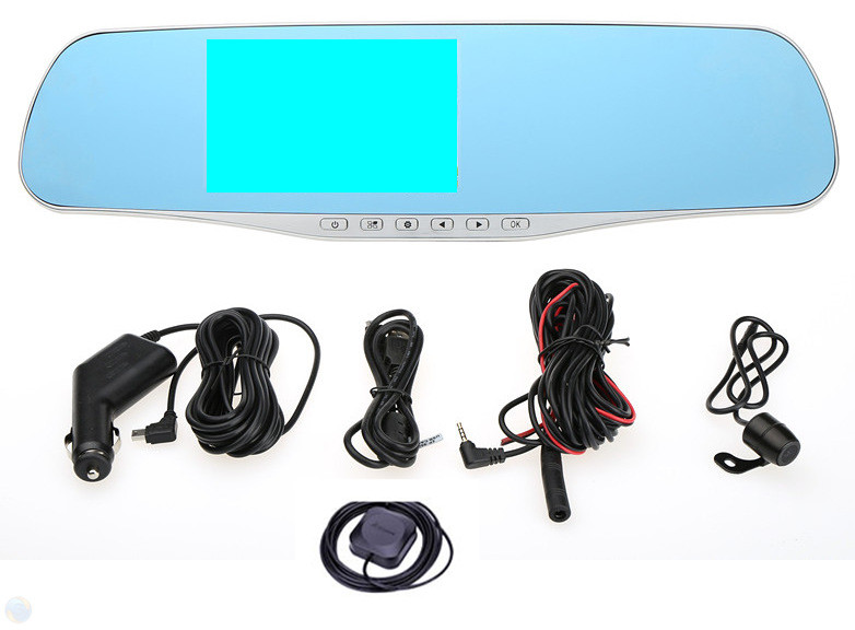Alibaba China car rearview mirror camera dvr,12V /24V car dvr dual camera gps