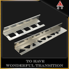 Durable stainless steel tile trim