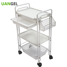 3 layers withe cheap beauty salon trolley with basket