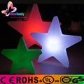 Colorful plastic ourdoor led christmas star with twinkle light