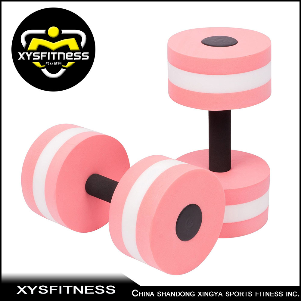 high quality gym equipment/water pool dumbbells /swimming dumbbells