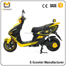 2016 Morakot Cool Design High Speed Big Power Yellow Color 800W60V20AH Cheap Electric Scooter/Motorcycle BP7