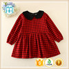 Wholesale red boutique dress,baby children party christmas red dress cotton kids dresses girls kids frock designs