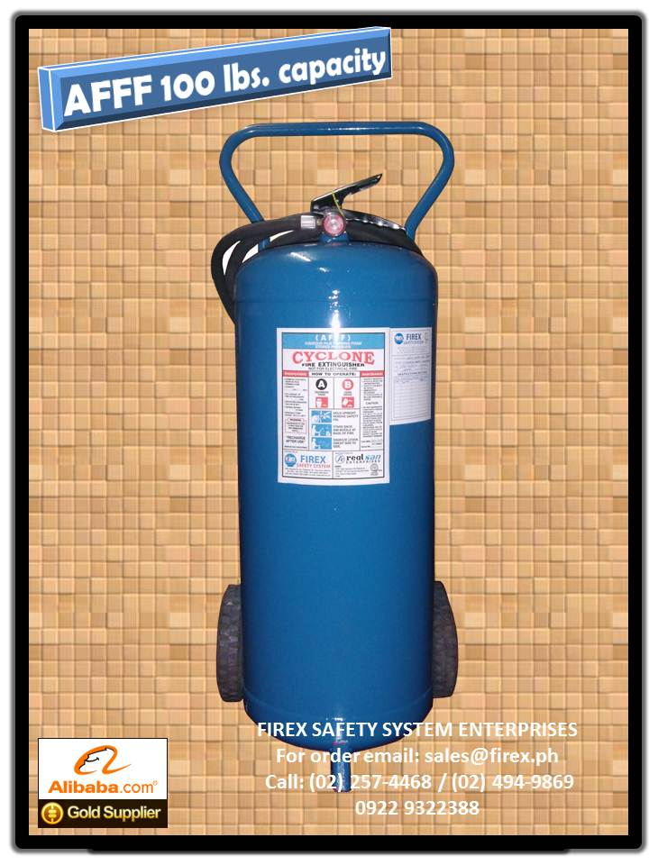 AFFF wheel type 100 lbs Fire Extinguisher