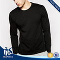 Guangzhou Shandao whoesaler plain mens o-neck long sleeve dry fit 180g cotton polyester rayon t shirt