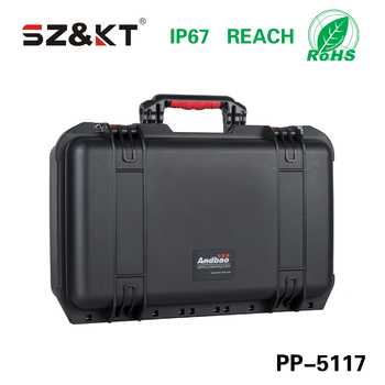 Plastic PP instrument carrying cases with foam