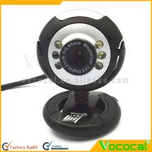 Plastic 6 LED Free Driver USB Webcam with Microphone