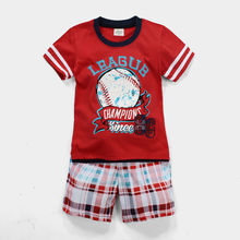 2016 New products listed Two-piece color red sport printed short sleeve T-shirt suit Quality assurance