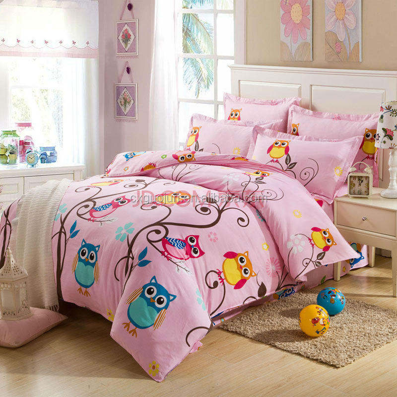 lovely mickey mich design printed 100% brushed polyester fabric bedsheet sets for kids