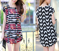D80106F 2015 cheap summer big size lady dress in stock