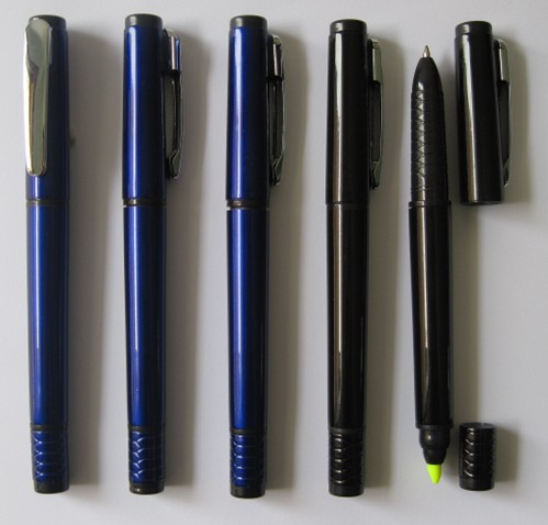 manufacturer factory Metalic barrel 2 in 1 highlighter CH-6256 cheap ballpoint pen,ballpoint pen