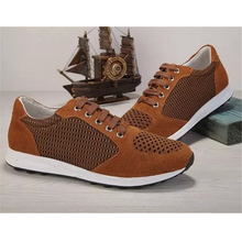 famous luxury designer cowhide leather breathable mesh 2017 men casual shoes