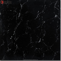 soluble salt polished porcelain tile, black surface white line vitrified floor tiles ceramic