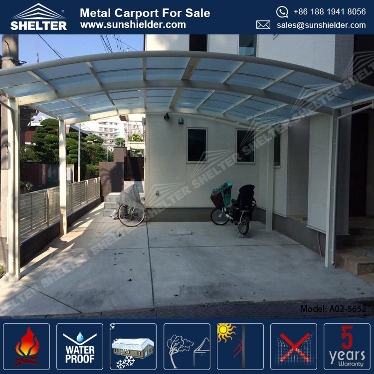RV Portable Outdoor Polycarbonate Metal Aluminum Carports Garage Buildings Shelters Canopy For Sale