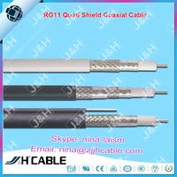 Hottest Selling Low dB Loss RG11 Quad Shield Coaxial Cable rg6 triple shield coaxial cable
