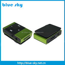 High quality support TFcard directly digital mini clip mp3 player manual