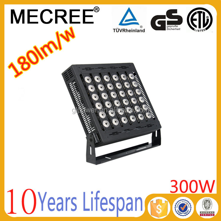 300 watt led/led sport field lighting/lampadaire/lumiere theatre led carre