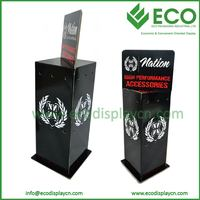 3 Sided Rotating Corrugated Counter Hook Display, Cardboard Hook Display stands